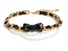 Chanel香奈儿 AB4460 B03631 N8134 金属与珍珠腰带