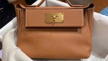 Hermes  mini 2424 金棕金扣
