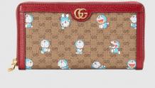 Gucci 647787 2TUBG 8580 Doraemon x Gucci联名系列 全拉链式钱包