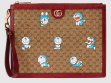 Gucci 647804 2TJAG 8580 Doraemon x Gucci联名系列 手拿包