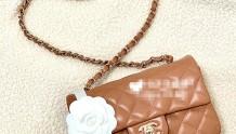 Chanel A69900 21P 春夏1 焦糖奶茶棕色大mini