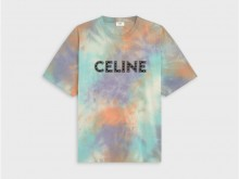 CELINE 2X687957M.14ML 铆钉棉质宽松T恤