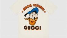 Disney x Gucci 615044 XJDBJ 9088 唐老鸭刺绣棉质T恤