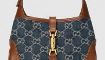 Gucci 637092 2KQGG 8375 GG Denim系列Jackie 1961系列迷你手袋