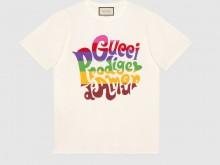 Gucci 548334 XJDAM 1082 Gucci Prodige d'Amour印花 T恤