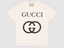 Gucci 493117 X3Q35 7561 饰互扣式双G 超大造型T恤