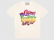 Gucci 548334 XJDAM 9095 Gucci Prodige d Amour印花 T恤