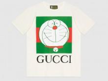 Gucci 615044 XJDIM 9095 Doraemon x Gucci联名系列 棉质T恤