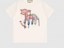 Gucci 580762 XJC0I 9095 小鹿贴饰 T恤