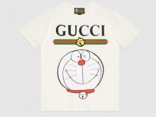 Gucci 615044 XJDIL 9095 Doraemon x Gucci联名系列 棉质T恤