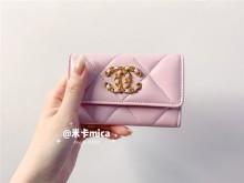 Chanel2021春夏樱花粉19卡包全网首发
