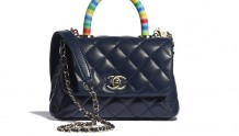Chanel AS2215 B05240 NB354 彩虹色手柄 迷你口盖包