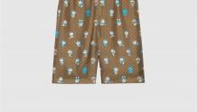 Doraemon x Gucci 649062 ZAGSH 2165 联名系列真丝短裤