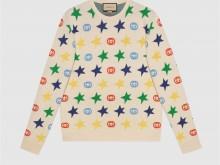 Gucci 661835 XKBXY 9275 星星印花羊毛毛衣
