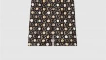 Gucci 649062 ZAGAR 1060 Ken Scott印花系列真丝短裤