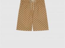 The North Face x Gucci 644586 XJDB9 2102 联名系列GG帆布短裤