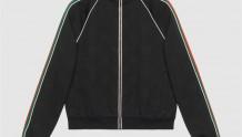Gucci 662270 XJDE9 1043 GG提花针织拉链夹克