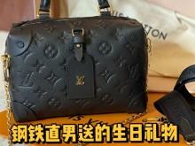 钢铁直男送的生日礼物2.0—LV M45393 黑金牛皮软盒子