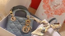 Mini Micro Lady Dior最新色:雾霾蓝