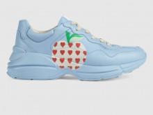 Gucci 666195 2SH00 4820 Rhyton系列 心苹果图案运动鞋