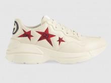 Gucci 664961 664962 Rhyton系列 星星印花运动鞋