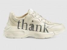 "Gucci 636343 A9L00 9522 Rhyton系列 ""think/thank""印花 运动鞋"