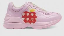 Gucci 666196 2SH00 5721 Rhyton系列 心苹果图案运动鞋