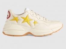Gucci 660939 660938 Rhyton系列 星星印花运动鞋