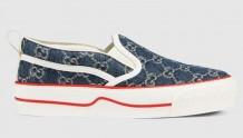 Gucci 624733 GG Denim系列 Tennis 1977 女士运动鞋