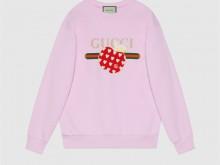 Gucci 617964 XJDOJ 5320 女士心苹果图案卫衣