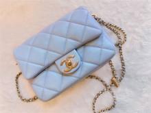 Chanel AS2855 21K 珠光蓝牛皮方胖 差点被劝退