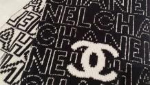 Chanel |21秋冬新款黑白羊绒双面围巾