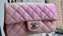 Chanel 21K 珠光粉大mini+经典挂带鞋开箱