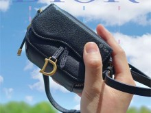 Dior超mini马鞍盒子斜挎包|实物真的很精细