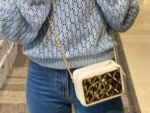 首发 Chanel AS2900 21k金属镜面相机包金砖包白色