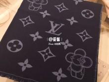 新新新新款~LV牛仔深蓝+vivienne灰双面羊毛围巾